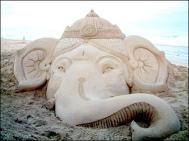 Ganesha- Sand art