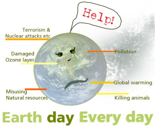 earth day- designed by Paavani