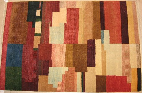 Natural colored dyed and handspun Carpet.